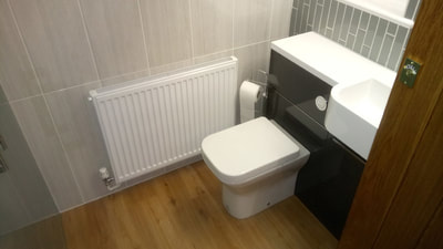 cloakroom converted to bathroom